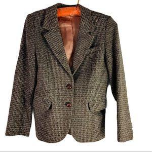 vintage richard evans harris tweed wool blazer